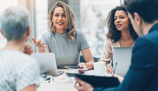 Female manager using assertiveness training in the workplace